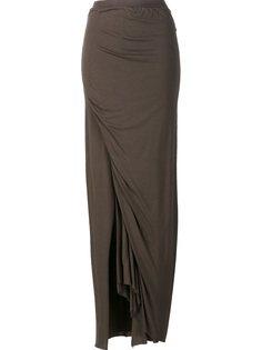 драпированная длинная юбка  Rick Owens Lilies