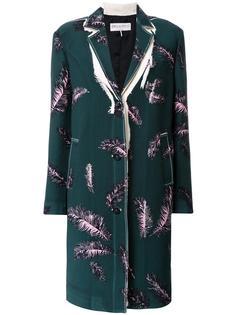 пальто с рисунком в виде перьев Emilio Pucci