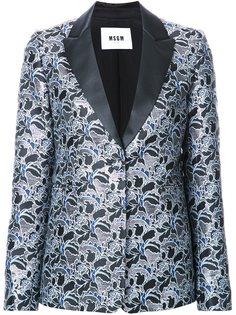 жаккардовый пиджак с цветочным узором MSGM
