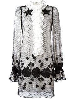 прозрачное платье с вышивкой Giamba