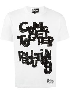 футболка с принтом The Beatles X Comme Des Garçons