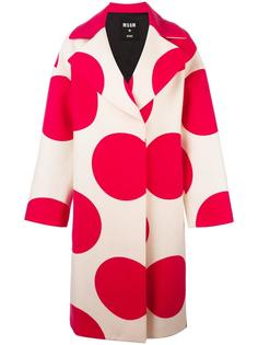 пальто с принтом кругов  MSGM
