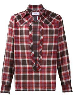 клетчатая рубашка с разрезом спереди Facetasm