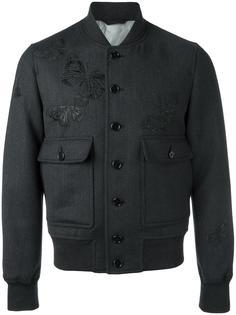 куртка-бомбер с вышивкой моли Alexander McQueen