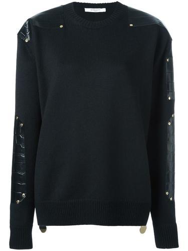 джемпер с контрастной панелью Givenchy