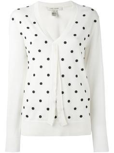 свитер с V-образным вырезом и вышивкой Marc Jacobs