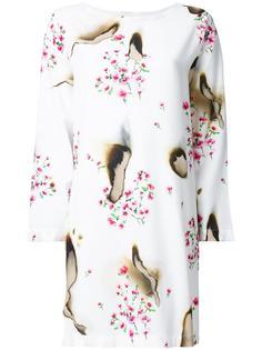 платье с цветочным узором и жженым эффектом Moschino