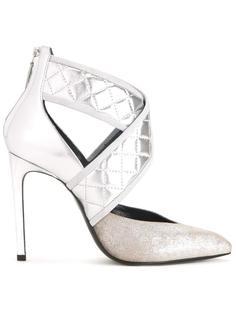 туфли-лодочки с перекрестным ремешком Lanvin