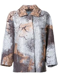 пальто с эффектом металлик Alberta Ferretti