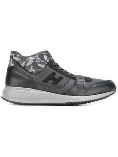 кроссовки с камуфляжным принтом Hogan
