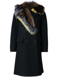 пальто с меховым воротником Ermanno Scervino