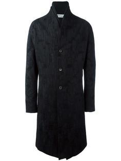 жаккардовое однобортное пальто Individual Sentiments