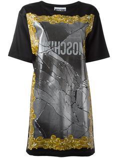 платье-футболка с принтом зеркала Moschino