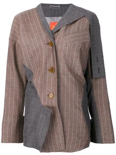 асимметричный пиджак в тонкую полоску Vivienne Westwood Red Label