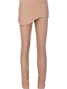 бархатные брюки с накладной панелью Vivienne Westwood Red Label