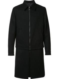 многослойное пальто Neil Barrett