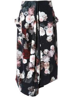 юбка с цветочным принтом   Preen By Thornton Bregazzi