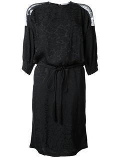 платье с кружевной вставкой  Preen By Thornton Bregazzi