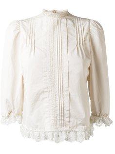 блузка с плиссировкой и оборками Dsquared2