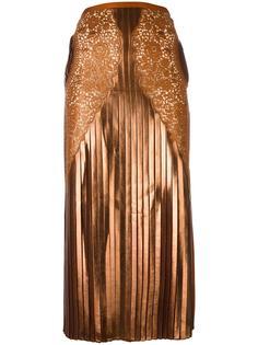 плиссированная кружевная юбка из жоржета  Stella McCartney