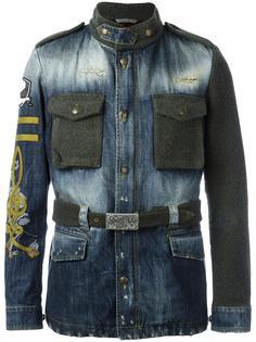 джинсовая куртка с панельным дизайном Gabriele Pasini