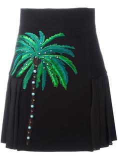 юбка с вышивкой пальмы Fausto Puglisi