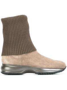 ботинки на подошве с эффектом металлик Hogan