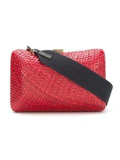 straw clutch bag Serpui