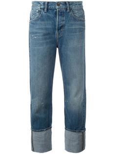 джинсы-бойфренды с брызгами краски Helmut Lang