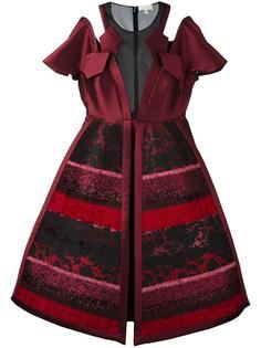 платье с фактурными панелями Delpozo