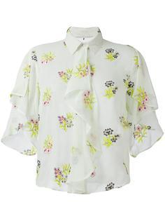 юбка с цветочной вышивкой Marco De Vincenzo