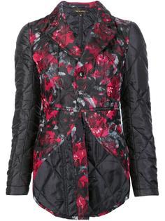 стеганая куртка с цветочным принтом Comme Des Garçons