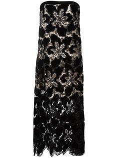 вечернее платье с цветочным узором Giorgio Armani