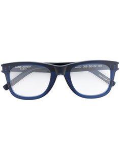 очки в квадратной оправе Saint Laurent Eyewear