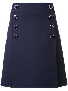 юбка А-образного силуэта с пуговицами Michael Kors