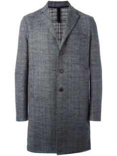 однобортное твидовое пальто Harris Wharf London