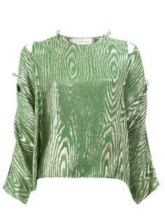 блузка с узором Maison Rabih Kayrouz