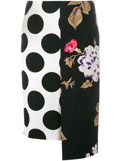 юбка в горох и с цветочным узором MSGM