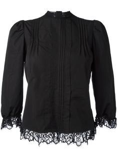 блузка с кружевной отделкой Dsquared2