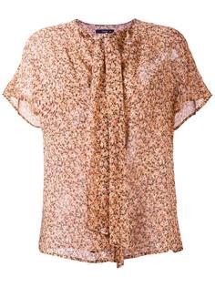 блузка с бантом и цветочным узором Etro