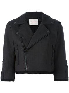укороченная байкерская куртка A.F.Vandevorst