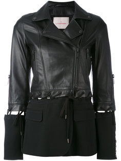 куртка с тканевой вставкой  A.F.Vandevorst