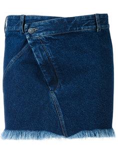 короткая джинсовая юбка  A.F.Vandevorst