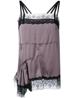 асимметричная блузка с кружевной отделкой  A.F.Vandevorst