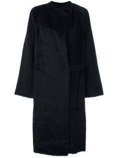 удлиненное пальто Shaggy Helmut Lang