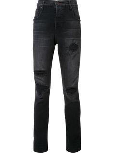 джинсы с потертой отделкой En Noir