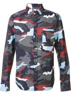 рубашка с камуфляжным принтом Moncler