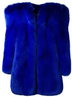 пальто с массивными плечами Saint Laurent