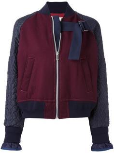 куртка-бомбер с вышивкой Sacai