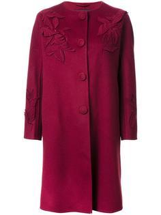 пальто с лиственными элементами Ermanno Scervino